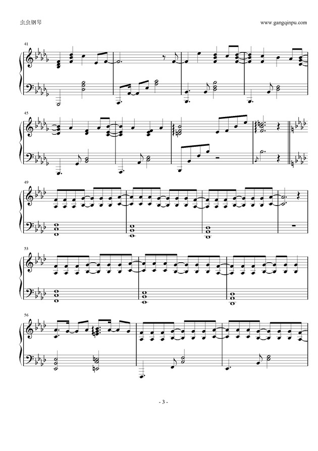 少女安眠钢琴谱 第3页