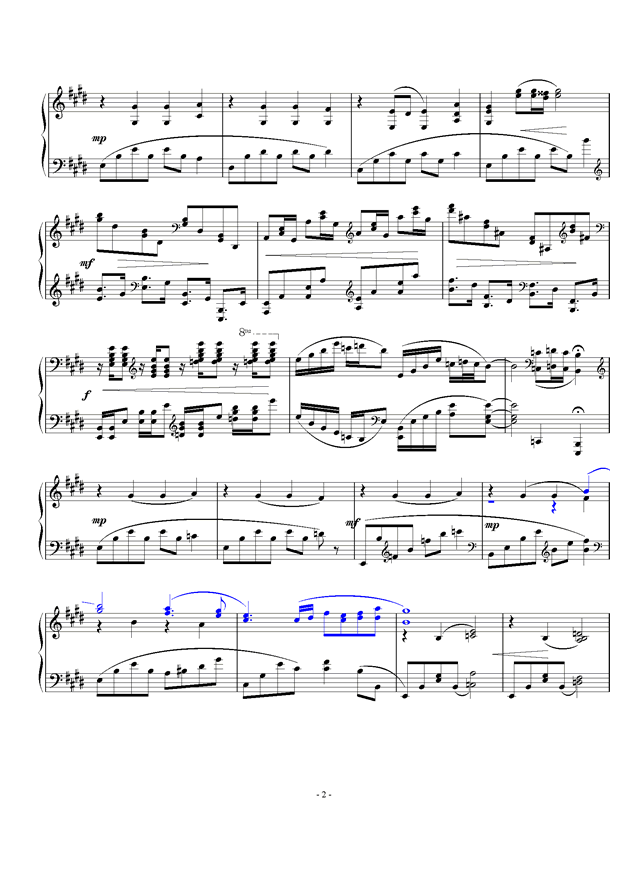 暖春钢琴谱 第2页