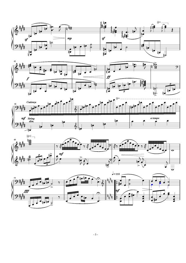 暖春钢琴谱 第3页