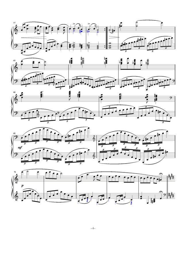 暖春钢琴谱 第4页