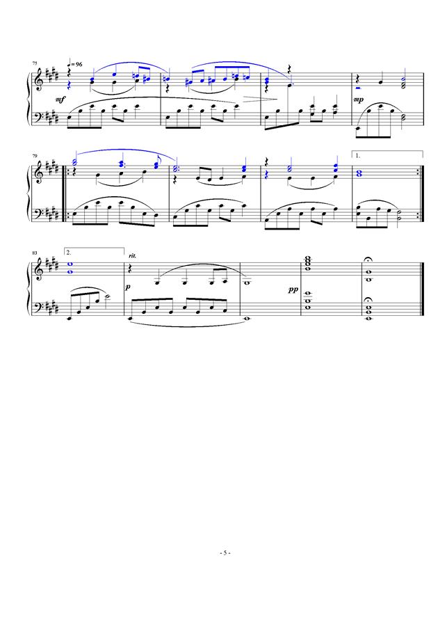 暖春钢琴谱 第5页