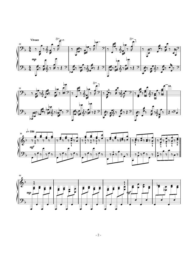 酷夏钢琴谱 第2页