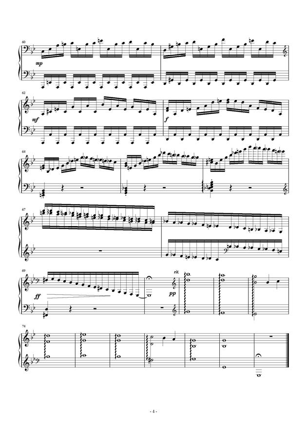 萧秋钢琴谱 第4页