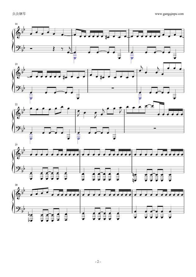 威风堂堂钢琴谱 第2页