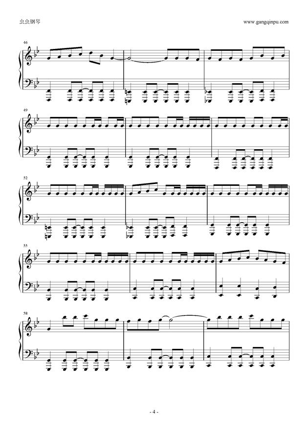 威风堂堂钢琴谱 第4页