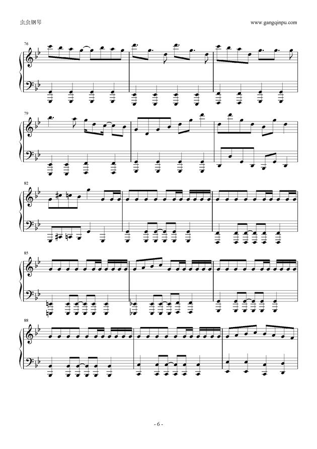 威风堂堂钢琴谱 第6页