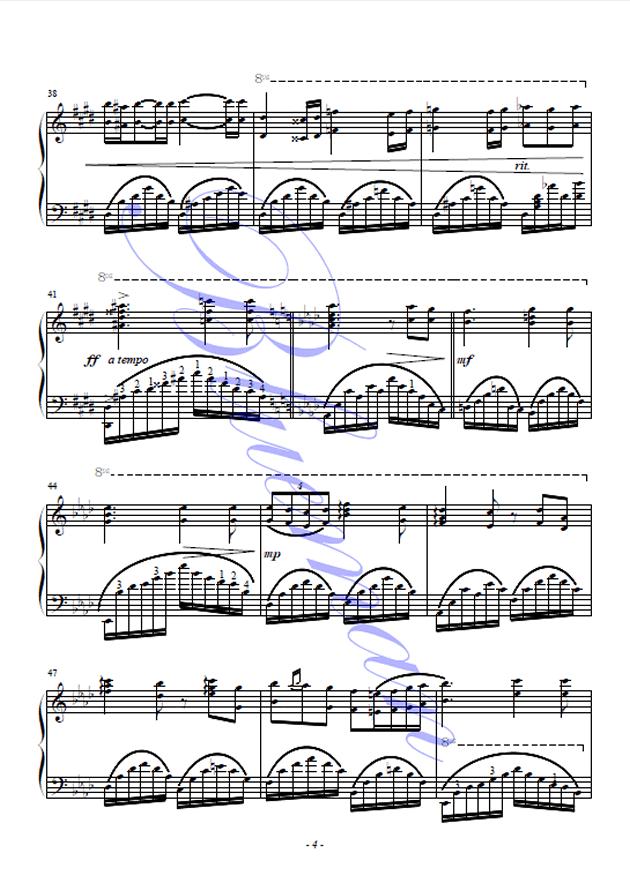 肖邦的钢琴叙事曲钢琴谱 第4页