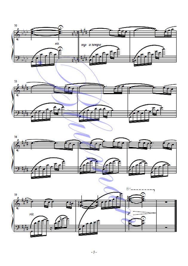 肖邦的钢琴叙事曲钢琴谱 第5页