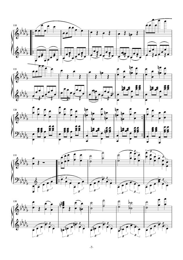 summer holiday 9钢琴谱 第7页