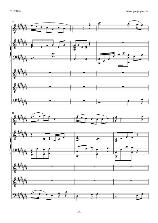 刀剑神域ost in time of peace钢琴谱 第2页