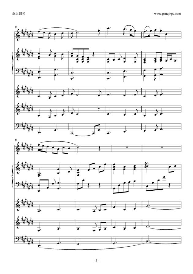 刀剑神域ost in time of peace钢琴谱 第5页