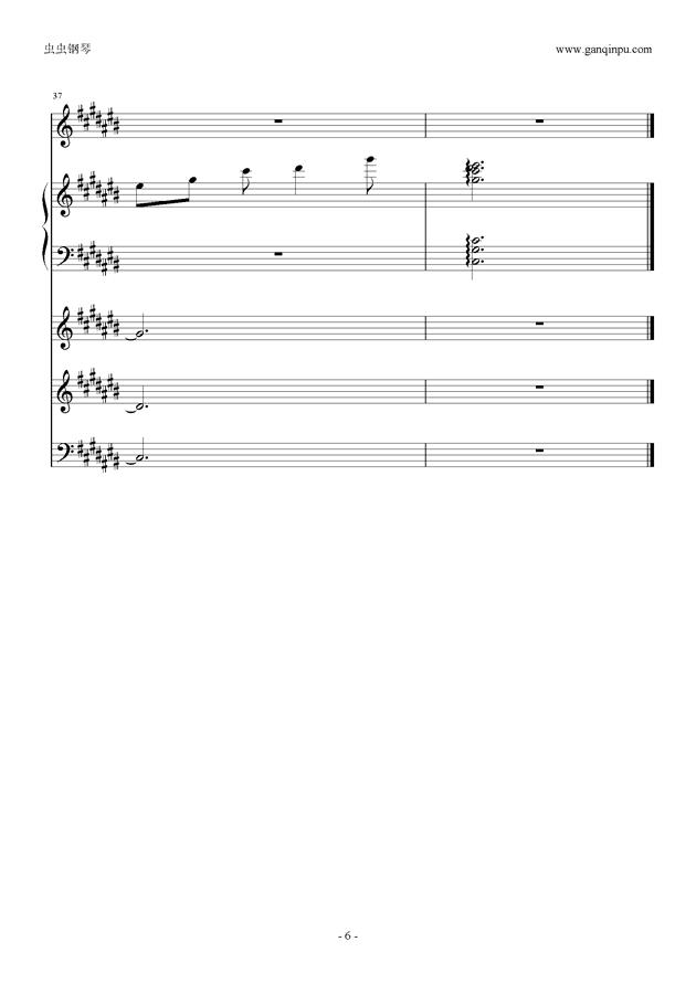 刀剑神域ost in time of peace钢琴谱 第6页