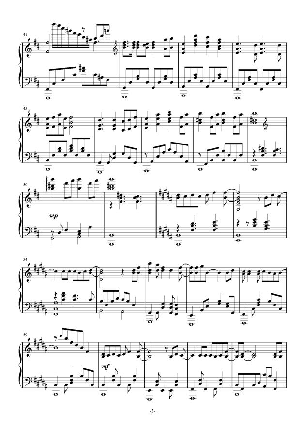 钢琴曲简谱花舞