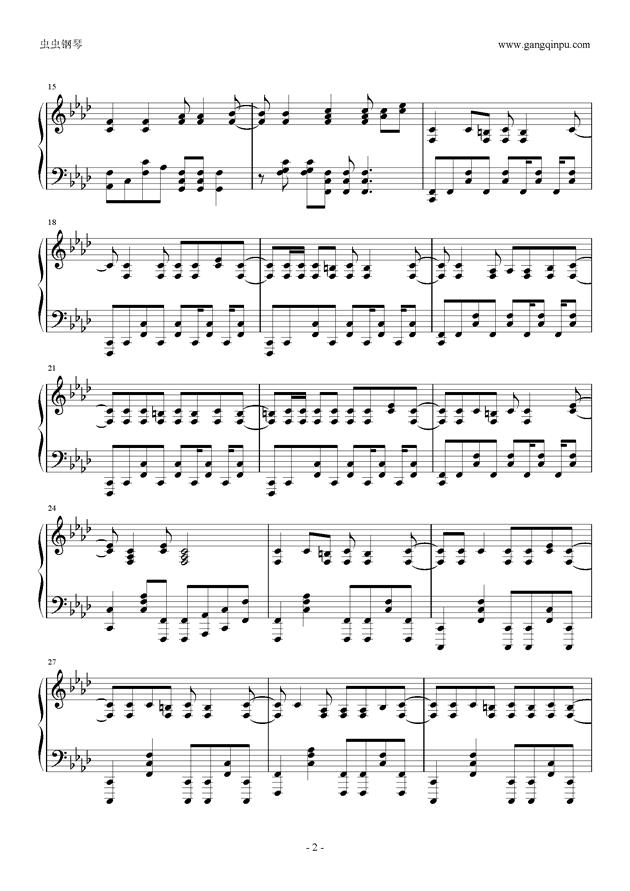 被害妄想携�∨�子钢琴谱 第2页