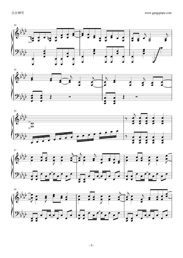 被害妄想携�∨�子钢琴谱 第3页