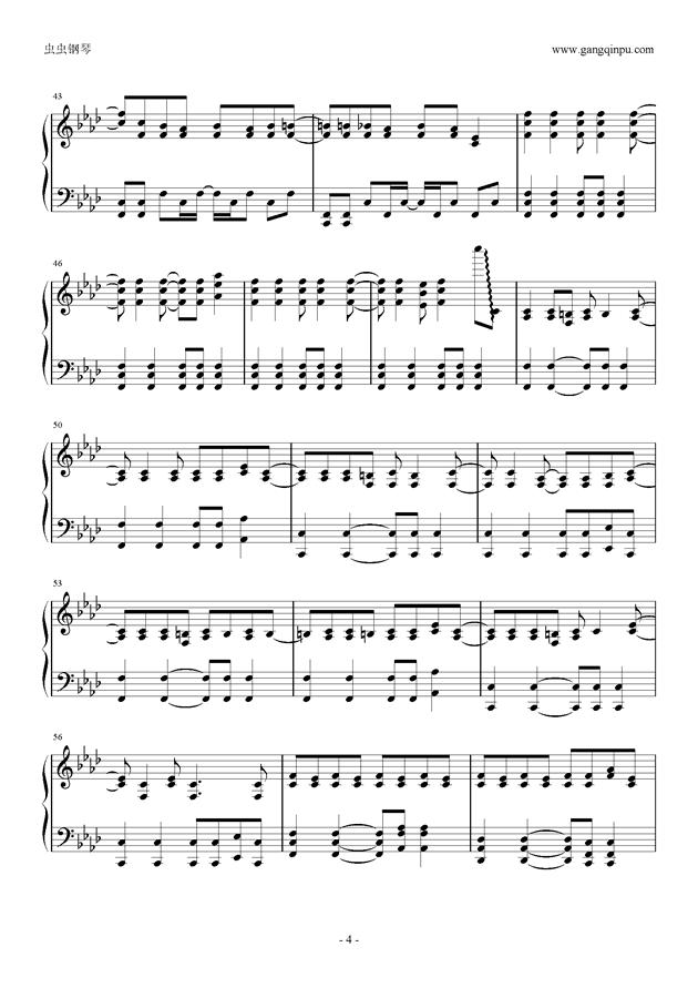 被害妄想携�∨�子钢琴谱 第4页