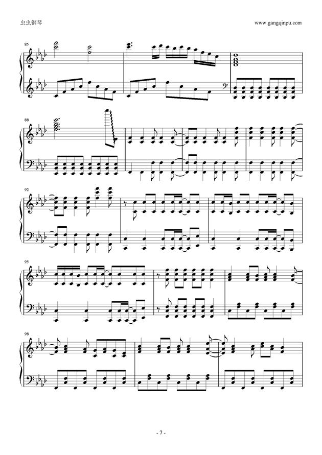 被害妄想携�∨�子钢琴谱 第7页