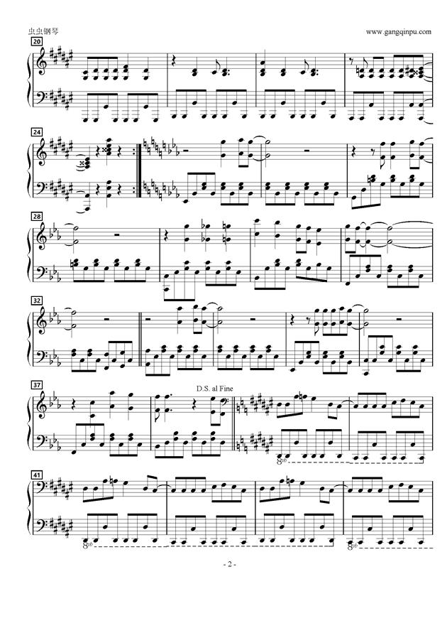 五月雨20ラブ钢琴谱 第2页