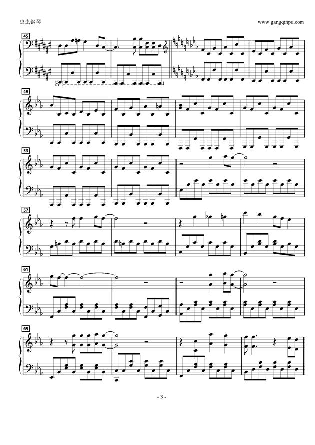 五月雨20ラブ钢琴谱 第3页