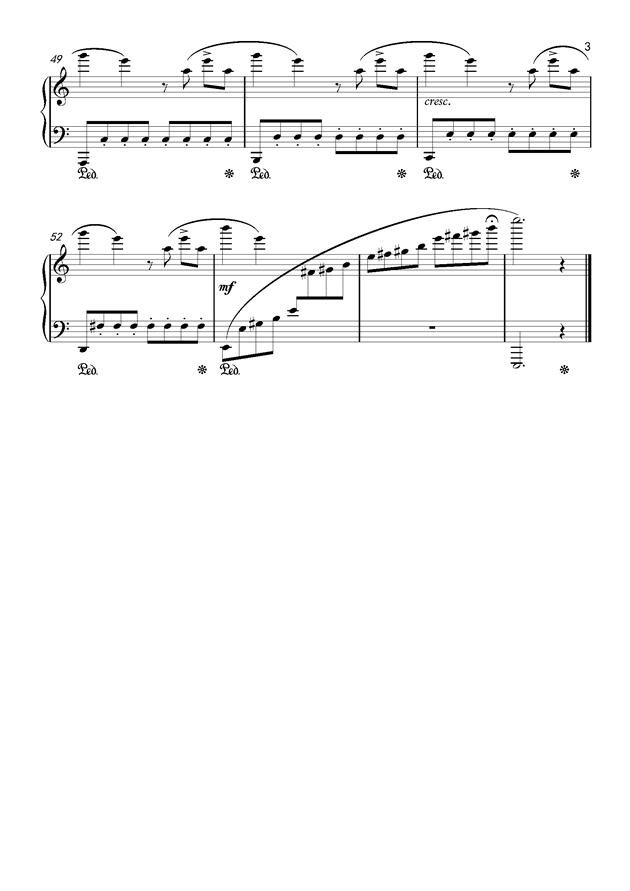等我回来钢琴谱 第3页