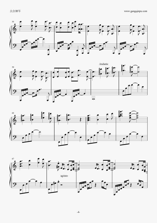 aLIEz(C调别致版)钢琴谱 第4页