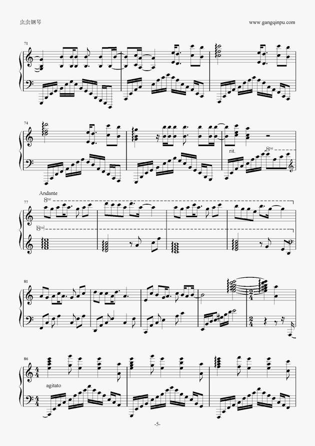 aLIEz(C调别致版)钢琴谱 第5页