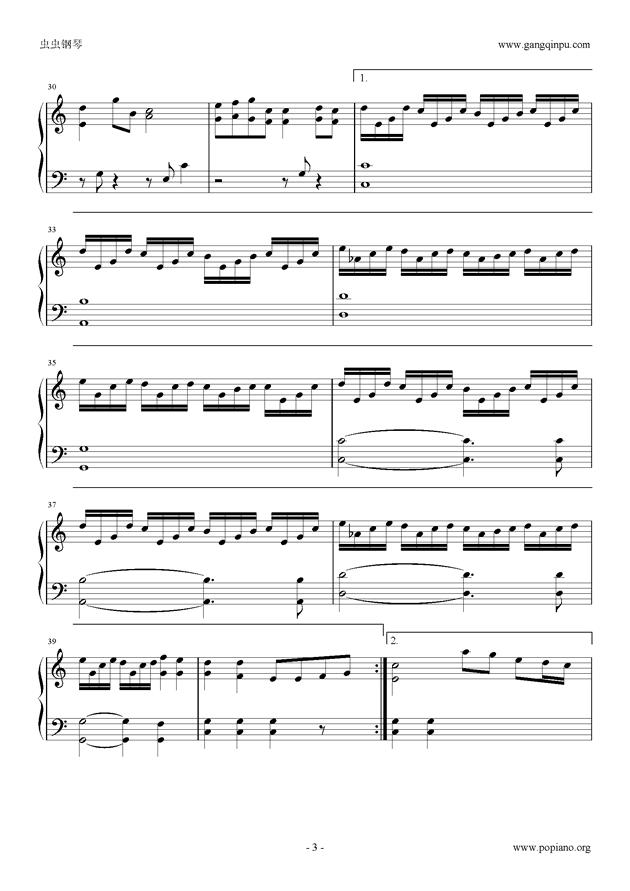 极暗之时谱子-蒲公英 钢琴谱 约定