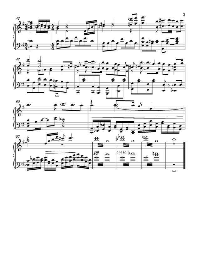 起风了主题曲钢琴谱 第3页