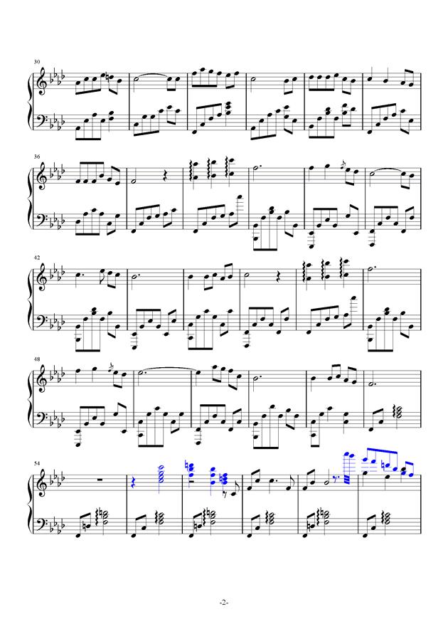 骑士王の夸り钢琴谱 第2页