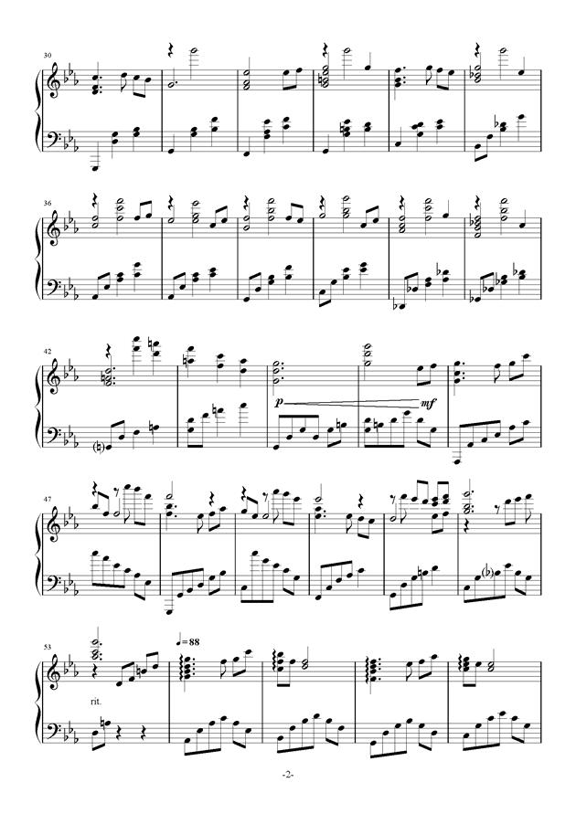 エウテルペ钢琴简谱