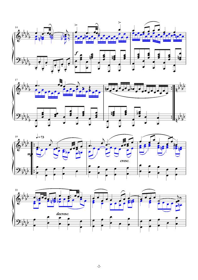 summer holiday 17钢琴谱 第2页