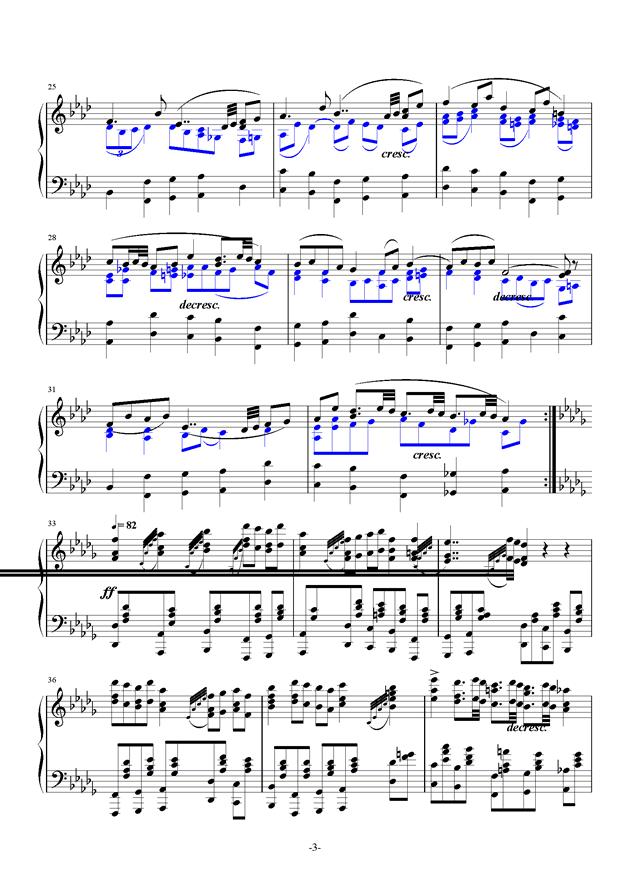 summer holiday 17钢琴谱 第3页