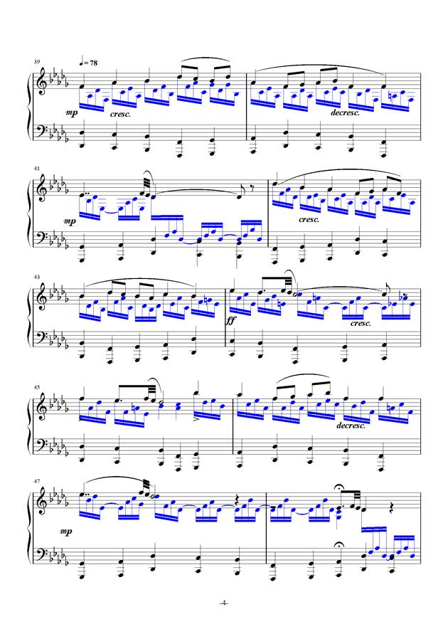 summer holiday 17钢琴谱 第4页