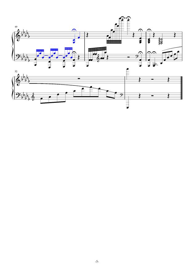 summer holiday 17钢琴谱 第5页