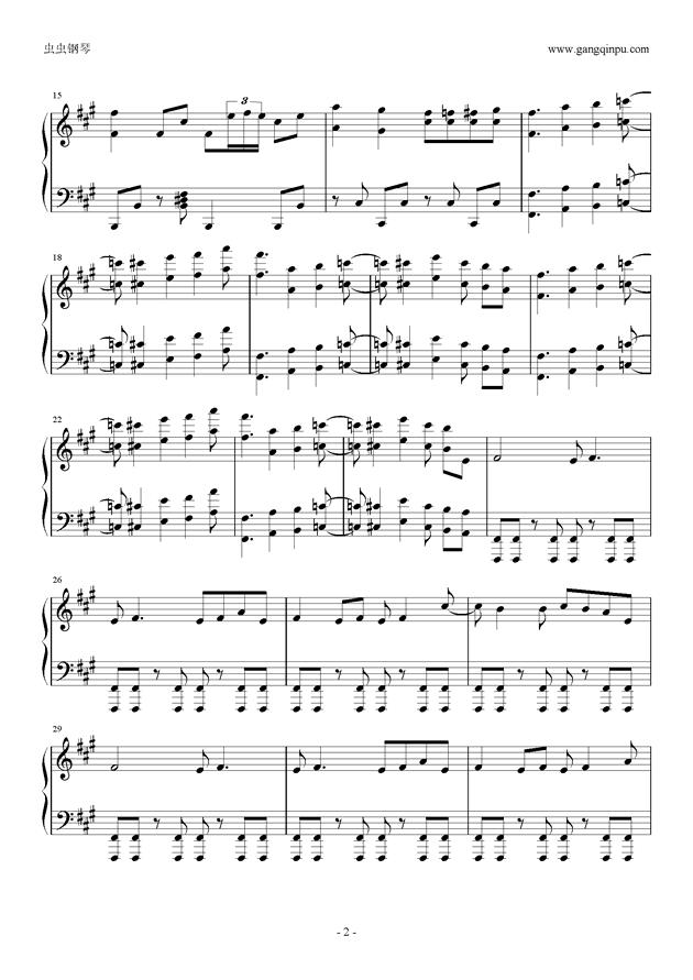 ヒ�`ロ�`治���a钢琴谱 第2页
