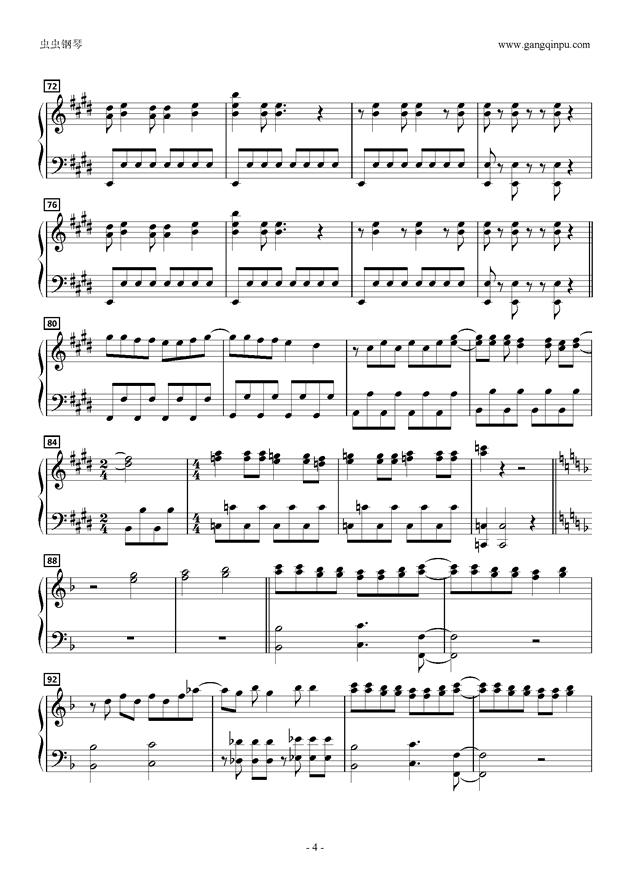 gayake GIRLS,Cagayake GIRLS钢琴谱,Cagayake GIRLS钢琴谱