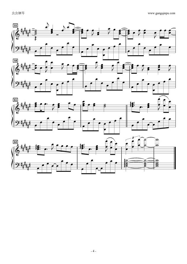 Stand Still钢琴谱 第4页