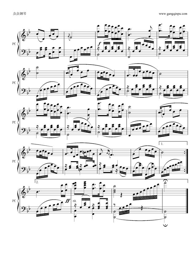 高天上流云钢琴谱 第2页