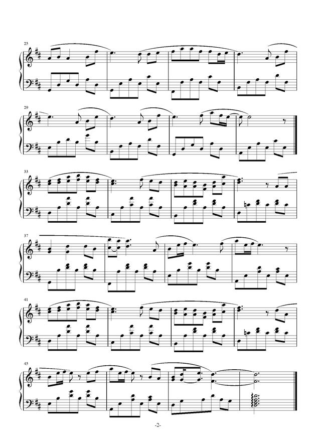 兔子先生钢琴谱 第2页