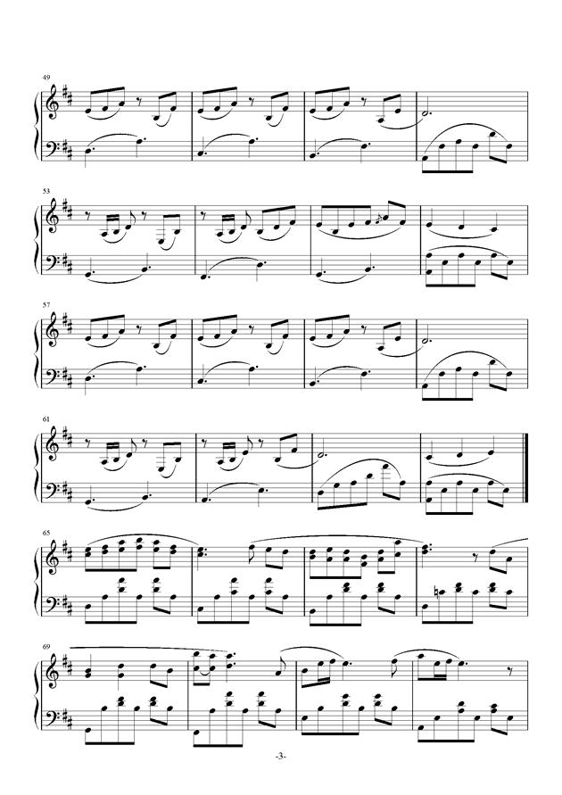 兔子先生钢琴谱 第3页