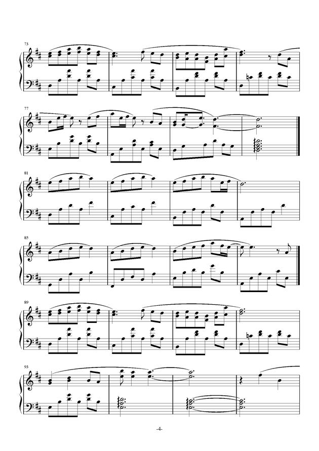兔子先生钢琴谱 第4页
