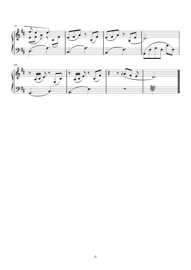 兔子先生钢琴谱 第5页