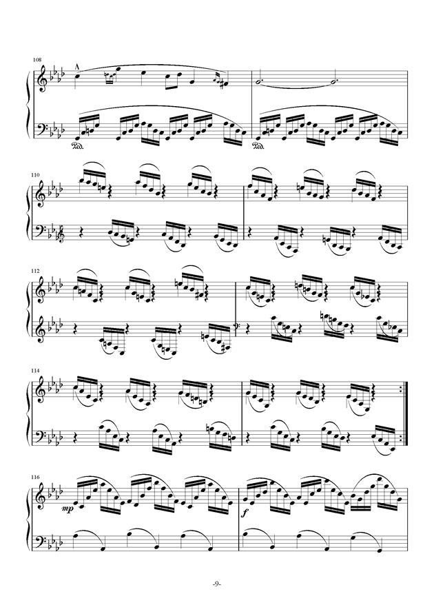 summer holiday 12钢琴谱 第9页