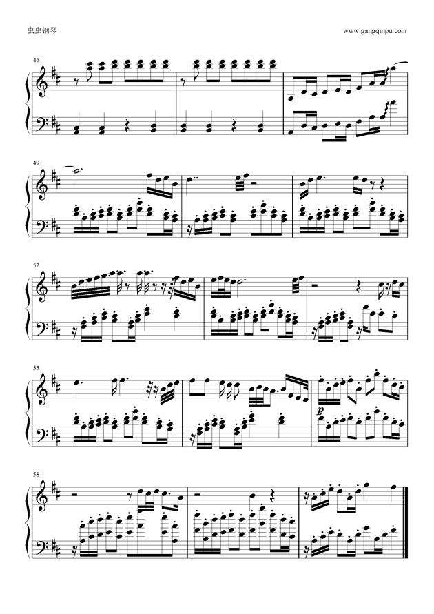 Tonight钢琴谱 第4页
