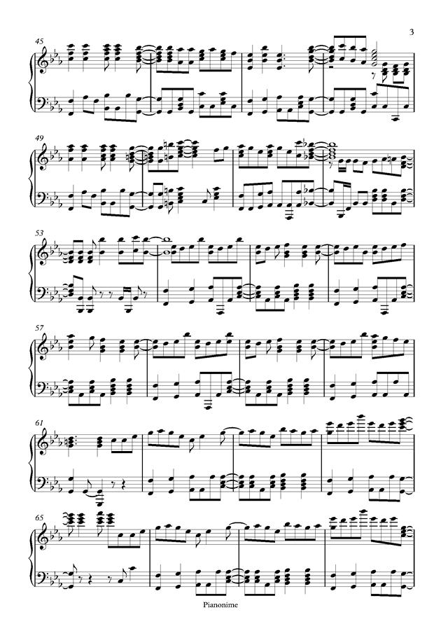 DayDream Cafe钢琴谱 第3页