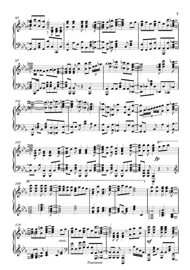 DayDream Cafe钢琴谱 第5页