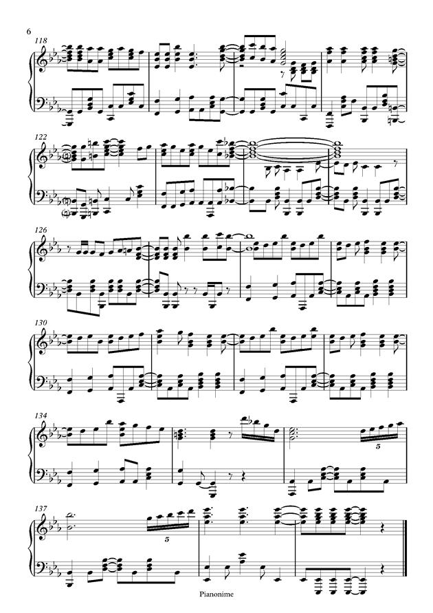 DayDream Cafe钢琴谱 第6页