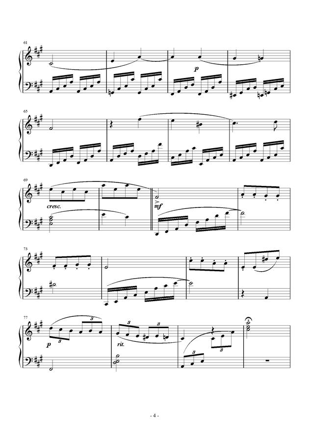 C大调小奏鸣曲钢琴谱 第4页