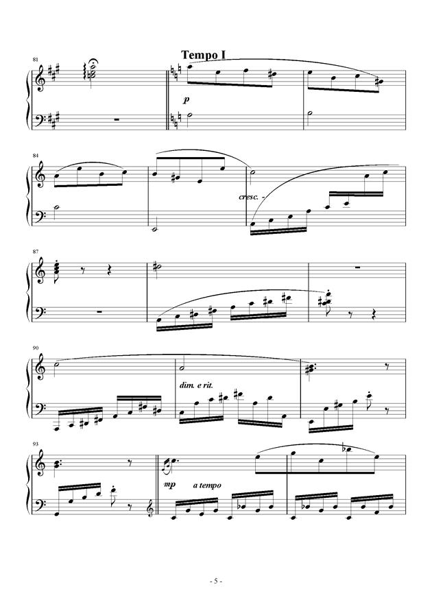 C大调小奏鸣曲钢琴谱 第5页