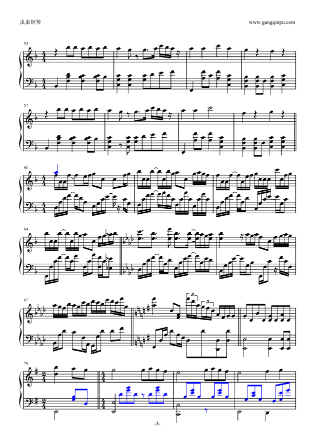 喜欢你钢琴谱 第3页